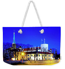 Weekender Tote Bag featuring the photograph Riga Castle by Fabrizio Troiani