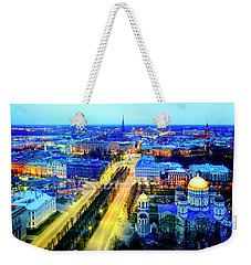Weekender Tote Bag featuring the photograph Riga by Fabrizio Troiani
