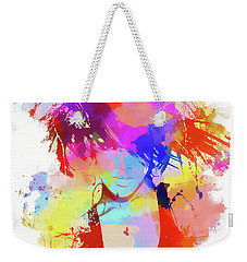 Rihanna Paint Splatter Weekender Tote Bag