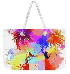 Rihanna Paint Splatter Weekender Tote Bag
