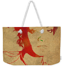 Rihanna Watercolor Portrait Weekender Tote Bag