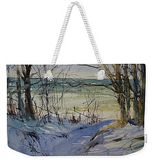 Riley Beach December Weekender Tote Bag by Sandra Strohschein