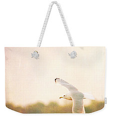 Weekender Tote Bag featuring the photograph Ring Billed Gulled by Heidi Hermes