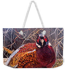 Ring Neck Pheasant Weekender Tote Bag