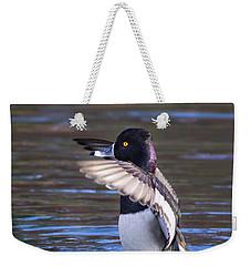 Ring-necked Duck Wings Up Weekender Tote Bag