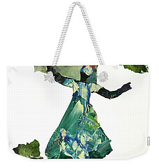 Weekender Tote Bag featuring the painting Ring Shout Dancer II by Mary Sullivan