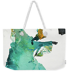 Weekender Tote Bag featuring the painting Ring Shout Dancer by Mary Sullivan