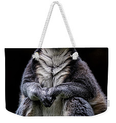 Weekender Tote Bag featuring the photograph Ring Tailed Lemur by Chris Lord