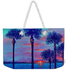 Ringling Bridge Sunset Weekender Tote Bag by Lou Ann Bagnall