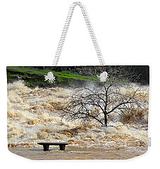 Weekender Tote Bag featuring the photograph Ringside Seat by AJ Schibig