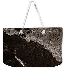 Weekender Tote Bag featuring the photograph Rio Grande River Taos by Marilyn Hunt
