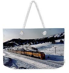 Rio Grande Zephyr Trainset In The Snow, Plainview Colorado, 1983 Weekender Tote Bag