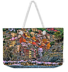 Weekender Tote Bag featuring the photograph Riomaggiore by Allen Beatty