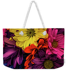 Weekender Tote Bag featuring the photograph Riot Of Color by Jessica Manelis