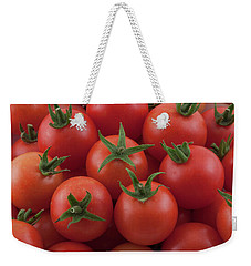 Weekender Tote Bag featuring the photograph Ripe Garden Cherry Tomatoes by James BO Insogna
