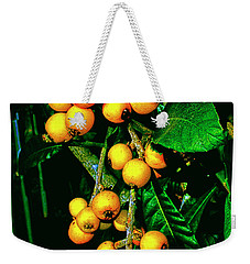 Ripe Loquats Weekender Tote Bag by Gina O'Brien