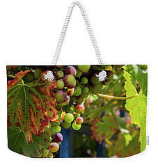 Weekender Tote Bag featuring the photograph Ripening Grapes by Geoff Smith