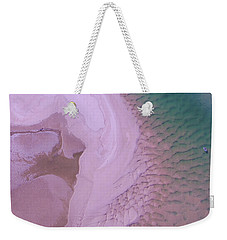 Weekender Tote Bag featuring the photograph Ripples And Sand Bars On The Noosa River by Keiran Lusk