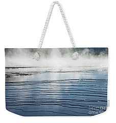 Ripples And Steam In Midway Geyser Basin Weekender Tote Bag