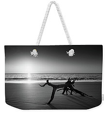 Ripples At Sunrise In Black And White Weekender Tote Bag
