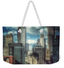 Weekender Tote Bag featuring the photograph Rise Above - Chrysler Building New York by Miriam Danar