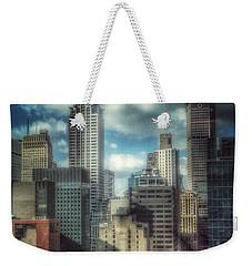 Rise Above - Chrysler Building New York Weekender Tote Bag by Miriam Danar