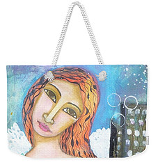 Weekender Tote Bag featuring the painting Rise Above Because You Are An Angel by Prerna Poojara