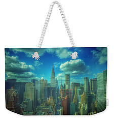 Rise And Shine - Chrysler Building New York Weekender Tote Bag by Miriam Danar