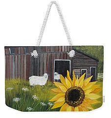 Weekender Tote Bag featuring the painting Rise And Shine by Virginia Coyle