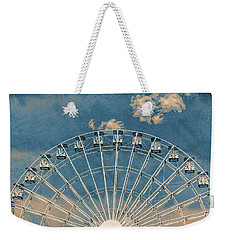 Rise Up Ferris Wheel In The Clouds Weekender Tote Bag by Terry DeLuco