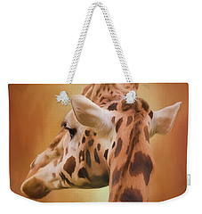 Rising Above - Giraffe Art Weekender Tote Bag by Jordan Blackstone