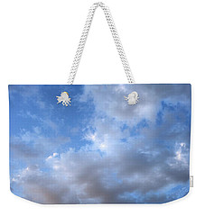 Weekender Tote Bag featuring the photograph Rising Clouds by Michael Rock