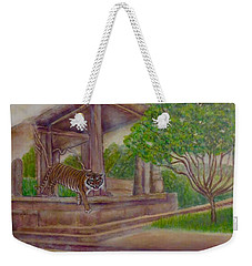 Rising Spirit Of The Tiger With The Sun Weekender Tote Bag