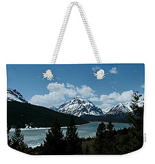 Rising Wolf And Two Medicine Lake Weekender Tote Bag