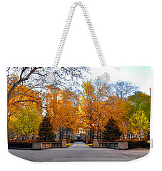 Weekender Tote Bag featuring the photograph Rittenhouse Square Philadelphia Pa by Bill Cannon