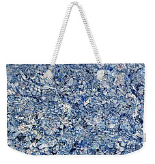 River Reflections Blue Weekender Tote Bag