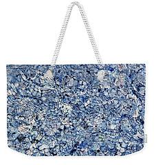 River Reflections Blue Weekender Tote Bag