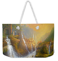 Rivendell Wisdom Of The Elves. Weekender Tote Bag by Joe  Gilronan