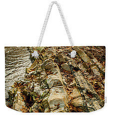 Weekender Tote Bag featuring the photograph River Bank by Iris Greenwell