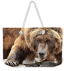 River Bed Grizzly Weekender Tote Bag