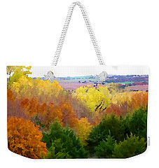 River Bottom In Autumn Weekender Tote Bag