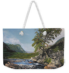 River Coe Scotland Oil On Canvas Weekender Tote Bag
