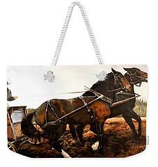 River Crossing Weekender Tote Bag by Traci Goebel