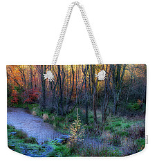 Weekender Tote Bag featuring the photograph River Devon In Clackmannan by Jeremy Lavender Photography