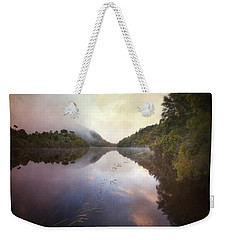 Weekender Tote Bag featuring the photograph River Fire  by Amy Weiss