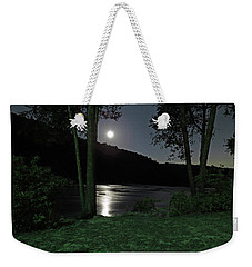 River In Moonlight Weekender Tote Bag