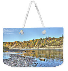 River In The Fall Weekender Tote Bag