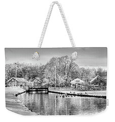 River In The Snow Weekender Tote Bag
