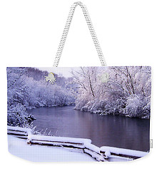 River In Winter Weekender Tote Bag