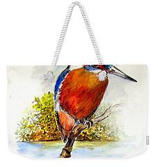 River Kingfisher Weekender Tote Bag